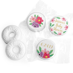 Personalized Bonnie Marcus Baby Shower Fun Floral Life Savers Mints
