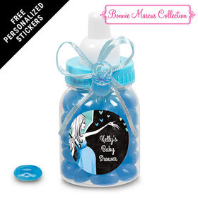 Bonnie Marcus Collection Personalized Blue Baby Bottle - Sprinkling Pink (24 Pack)