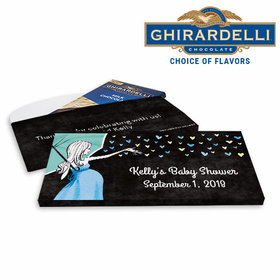 Deluxe Personalized Sprinkling Baby Shower Ghirardelli Chocolate Bar in Gift Box