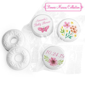 Personalized Bonnie Marcus Baby Shower Butterfly Flower Wreath Life Savers Mints