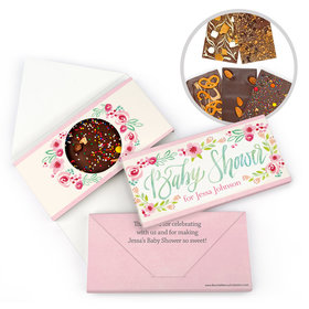 Personalized Bonnie Marcus Baby Shower Honey Wreath Gourmet Infused Belgian Chocolate Bars (3.5oz)
