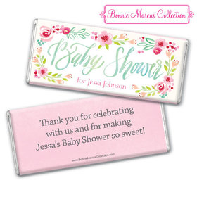 Personalized Baby Shower Honey Wreath Chocolate Bar & Wrapper