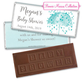 Personalized Bonnie Marcus Baby Shower Heart Shower Embossed Chocolate Bar & Wrapper