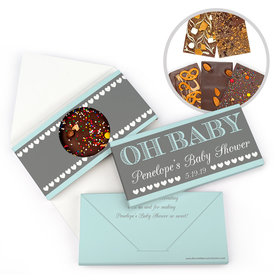 Personalized Bonnie Marcus Baby Shower Oh Baby Gourmet Infused Belgian Chocolate Bars (3.5oz)