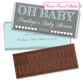Personalized Bonnie Marcus Baby Shower Oh Baby Embossed Chocolate Bar & Wrapper