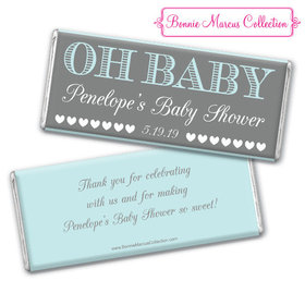 Personalized Bonnie Marcus Baby Shower Oh Baby Chocolate Bar & Wrapper