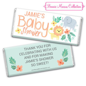 Personalized Baby Shower Safari Fun Chocolate Bar & Wrapper