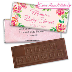 Personalized Bonnie Marcus Baby Shower Spring Baby Embossed Chocolate Bar & Wrapper
