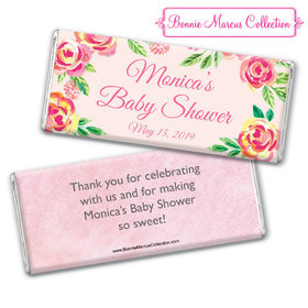 Personalized Bonnie Marcus Baby Shower Spring Baby Chocolate Bar & Wrapper