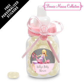 Bonnie Marcus Collection Personalized Pink Baby Bottle - Baby Bow (24 Pack)