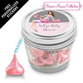 Bonnie Marcus Collection Personalized Event Blossom Jar -Baby Bow (12 Pack)