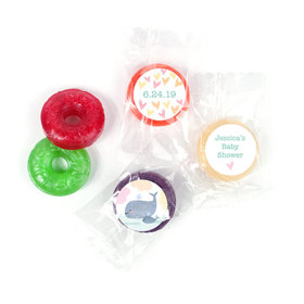 Personalized Bonnie Marcus Baby Shower Baby Whale LifeSavers 5 Flavor Hard Candy
