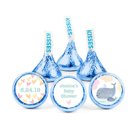 Personalized Bonnie Marcus Baby Shower Baby Whale Hershey's Kisses (50 pack)