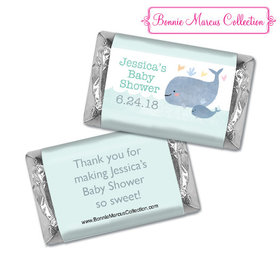 Personalized Bonnie Marcus Baby Shower Hershey's Miniatures Baby Whale