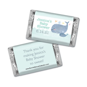 Personalized Bonnie Marcus Baby Shower Hershey's Miniatures Wrappers Baby Whale