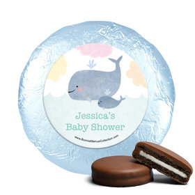 Personalized Bonnie Marcus Baby Whale Baby Shower Milk Chocolate Covered Oreos (24 Pack)