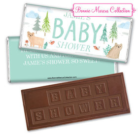 Personalized Bonnie Marcus Baby Shower Baby Bear Embossed Chocolate Bar & Wrapper