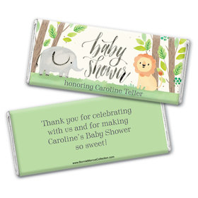 Personalized Bonnie Marcus Baby Shower Sarafi Nursery Chocolate Bar Wrappers