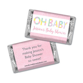 Personalized Bonnie Marcus Baby Shower Hershey's Miniatures Wrappers Pastel Shower