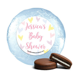 Personalized Bonnie Marcus Pastel Baby Shower Milk Chocolate Covered Oreos
