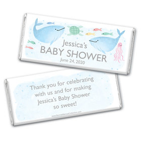 Personalized Bonnie Marcus Baby Shower Under the Sea Chocolate Bar Wrappers Only