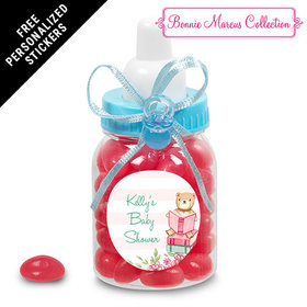 Bonnie Marcus Collection Personalized Blue Baby Bottle - Favors Story Time (24 Pack)