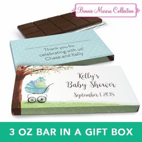 Deluxe Personalized Baby Bow Chocolate Bar in Gift Box (3oz Bar)