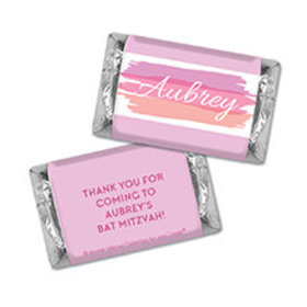 Bat Mitzvah Personalized Pink Watermark Hershey's Miniatures