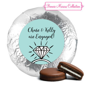 Bonnie Marcus Collection Engagement Bada Bling Milk Chocolate Drenched Oreo Cookies Foil Wrapped (24 Pack)
