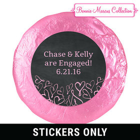 "Bonnie Marcus Collection Engagament Sweetheart Swirl 1.25"" Stickers (48 Stickers)"