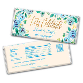 Bonnie Marcus Collection Personalized Chocolate Bar Wrappers Chocolate & Wrapper Here's Something Blue Engagement Favors