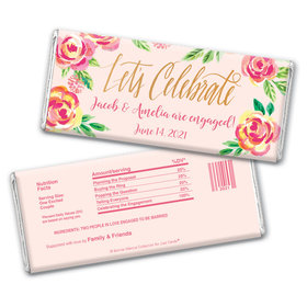 Bonnie Marcus Collection Personalized Chocolate Bar Chocolate & Wrapper In the Pink Engagement Favors by Bonnie Marcus