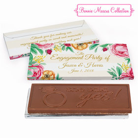 Deluxe Personalized Engagement Stripes Chocolate Bar in Gift Box