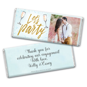 Personalized Bonnie Marcus Engagement Champagne Party Chocolate Bar Wrappers Only
