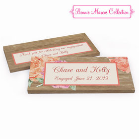 Deluxe Personalized Engagement Blooming Joy Chocolate Bar in Gift Box