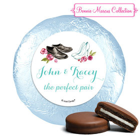 Personalized Engagement Chic Wedding Couple Chocolate Covered Oreos (24 Pack)