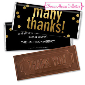 Personalized Bonnie Marcus Business Many Thanks Embossed Chocolate Bar