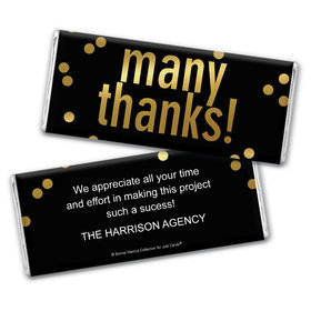 Personalized Bonnie Marcus Business Many Thanks Chocolate Bar Wrappers Only