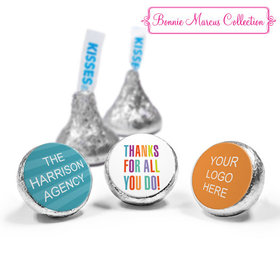 Personalized Bonnie Marcus Business Thank you Stripes Hershey's Kisses (50 Pack)