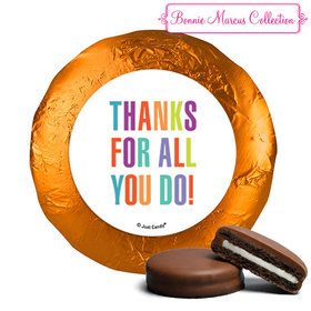 Personalized Bonnie Marcus Business Thank you Stripes Chocolate Covered Oreos