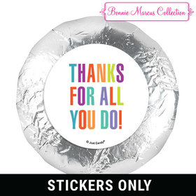 "Personalized Bonnie Marcus Business Thank you Stripes 1.25"" Stickers (48 Stickers)"