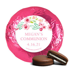 Personalized Girl First Communion Fancy Floret York Peppermint Patties (24 Pack)