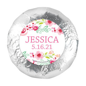 "Personalized Girl First Communion Floral Arrangement 1.25"" Stickers (48 Stickers)"