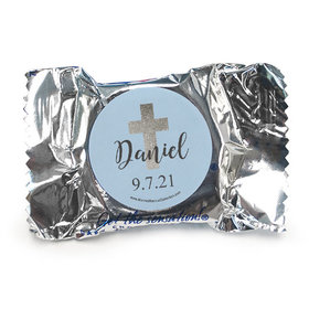 Personalized Boy First Communion Shimmering Cross York Peppermint Patties