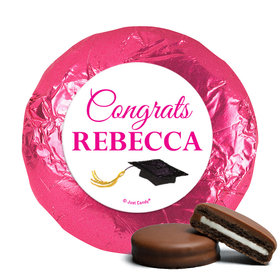 Personalized Bonnie Marcus Gorgeous Grad Brunette Milk Chocolate Covered Oreos (24 Pack)