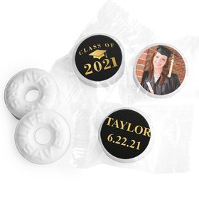 Personalized Bonnie Marcus Gold Graduation Life Savers Mints