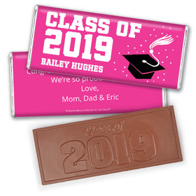Personalized Bonnie Marcus Grad Cap Graduation Chocolate Bar