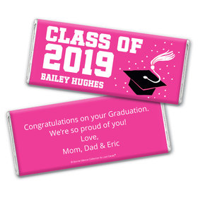 Personalized Bonnie Marcus Grad Cap Graduation Chocolate Bar Wrappers