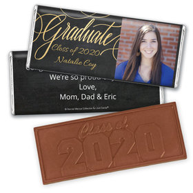 Personalized Bonnie Marcus Collection Chalkboard Graduation Embossed Chocolate Bar