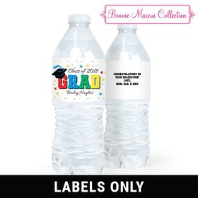 Bonnie Marcus Collection Grad Stars Water Bottle Sticker Labels (5 Labels)